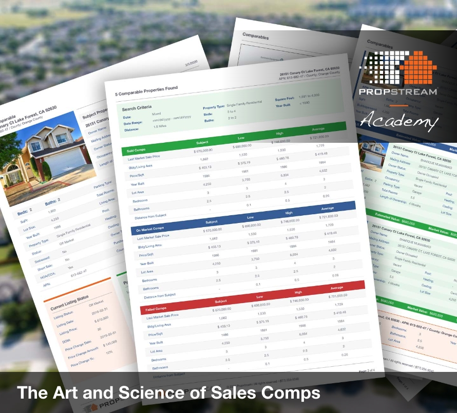 Art and Science of Sales Comps